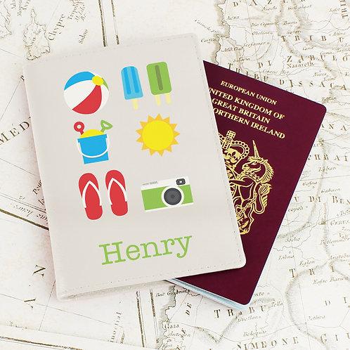 Personalised Bright Travel Cream Passport Holder (PMC)