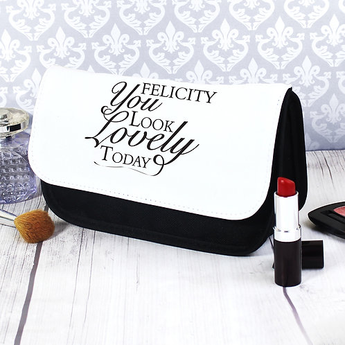 Personalised Look Lovely Make Up Bag (PMC)