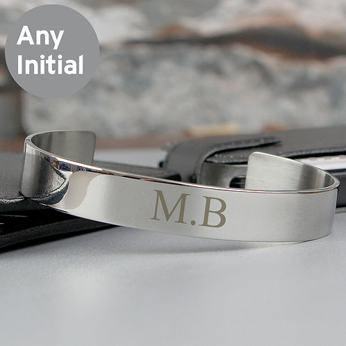 Personalised Initial Stainless Steel Bangle (PMC)