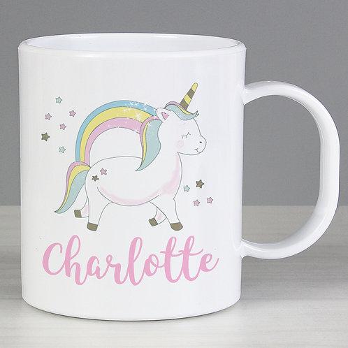 Personalised Baby Unicorn Plastic Mug (PMC)