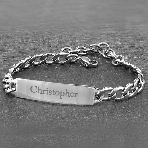 Personalised Stainless Steel Unisex Bracelet (PMC)