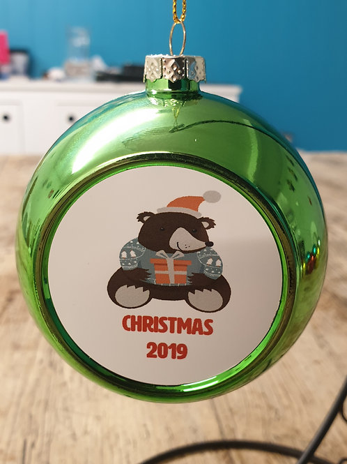 Bear Christmas 2019 bauble