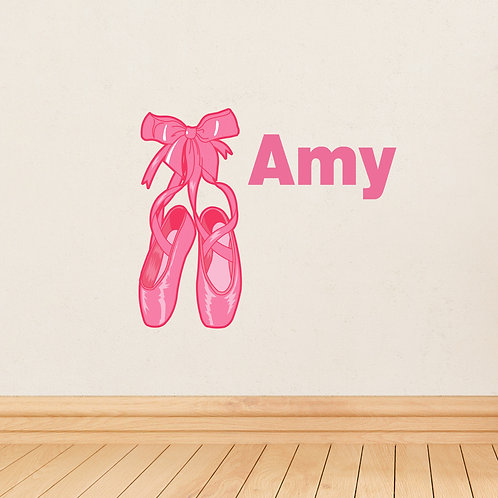 Personalised Ballerina Shoes Wall Art (PMC)