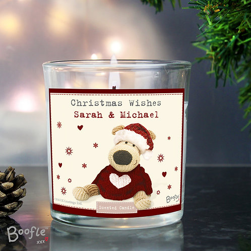Personalised Boofle Christmas Love Scented Jar Candle (PMC)