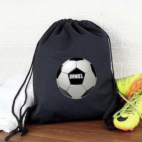 Personalised Football Black Swim & Kit Bag (PMC)