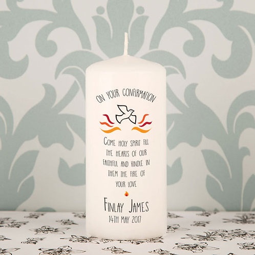 Confirmation Printed Candle
