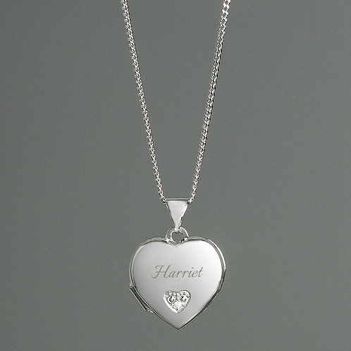Personalised Children's  Heart Locket Necklace (PMC)