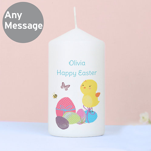 Personalised Easter Meadow Chick Candle (PMC)