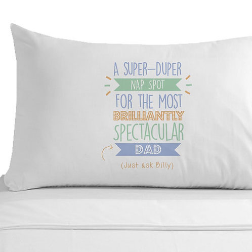 Personalised Super Duper Dad Pillowcase