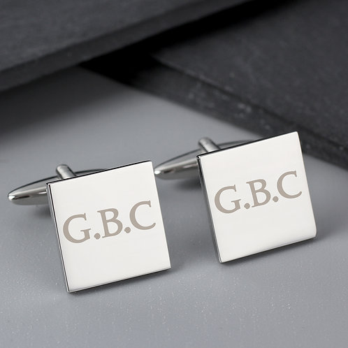 Personalised Initials Square Cufflinks (PMC)