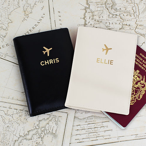 Personalised Gold Name Passport Holders Set (PMC)