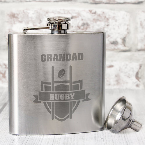 Personalised Rugby Hip Flask (PMC)