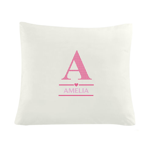 Personalised Girls Initial Cushion Cover (PMC)