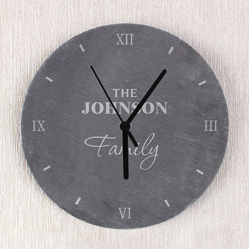 Personalised Family Slate Clock (PMC)