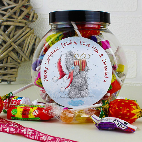 Personalised Me To You Christmas Sweet Jar (PMC)