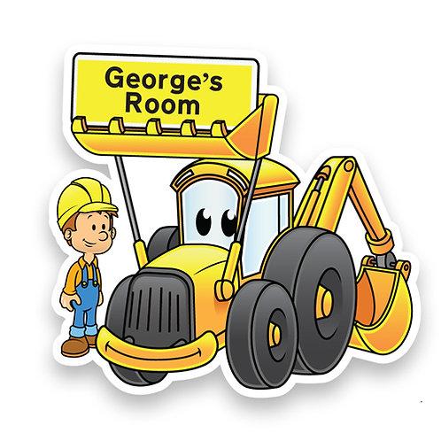 Yellow Digger Doorplaque (PTG)