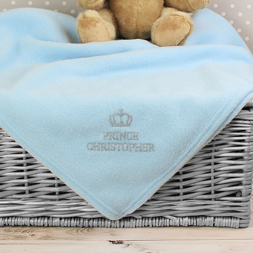 Personalised Blue Prince Baby Blanket (PMC)