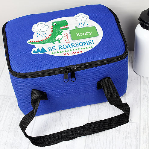 Personalised 'Be Roarsome' Dinosaur Lunch Bag (PMC)