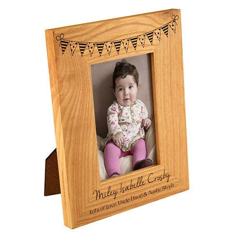Bunting Oak Photo Frame