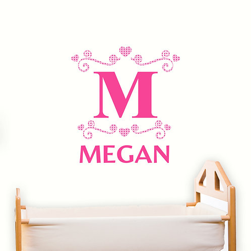 Personalised Girls Initial Wall Art (PMC)