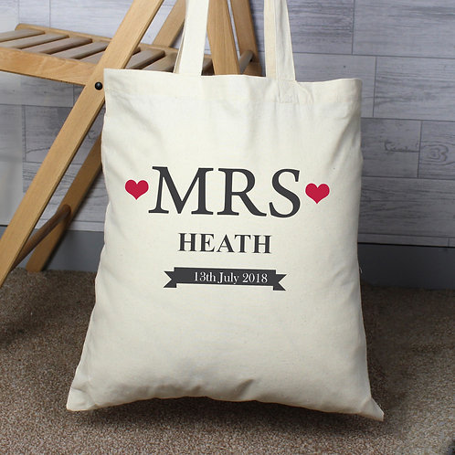 Personalised Mrs Cotton Bag (PMC)