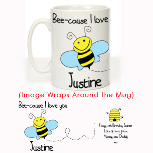 Bumble Bee Message Mug