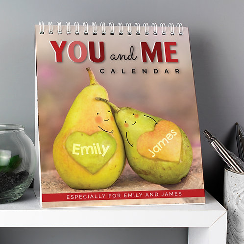Personalised Couples Desk Calendar (PMC)