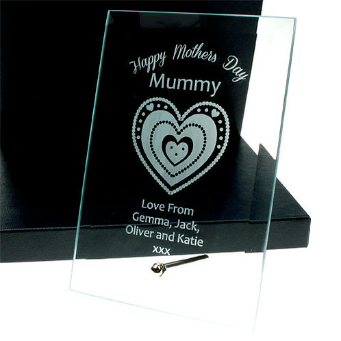 Mother's Day Glass Plaque