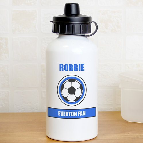 Personalised Dark Blue Football Fan Drinks Bottle (PMC)