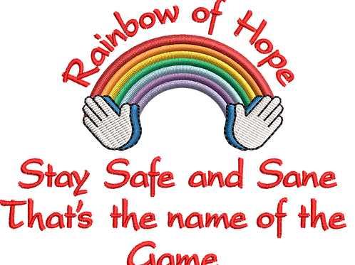 Keyworker Male Polo (RAINBOW OF HOPE STAY SAFE THATS THE NAME OF THE GAME)