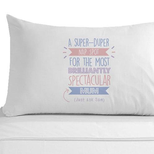 Personalised Super Duper Mum Pillowcase