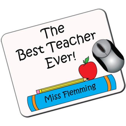 The Best Teacher Ever Personalised Mousemat