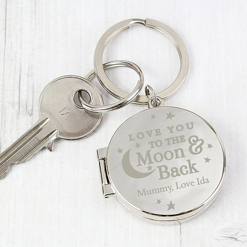 Personalised To the Moon and Back...Photo Keyring (PMC)