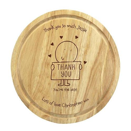 Chilli & Bubbles Thank You Chopping Board