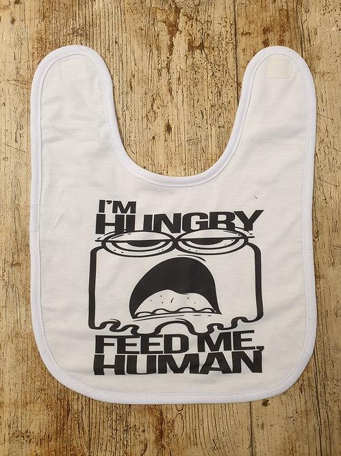 I'm Hungry, feed me human bib