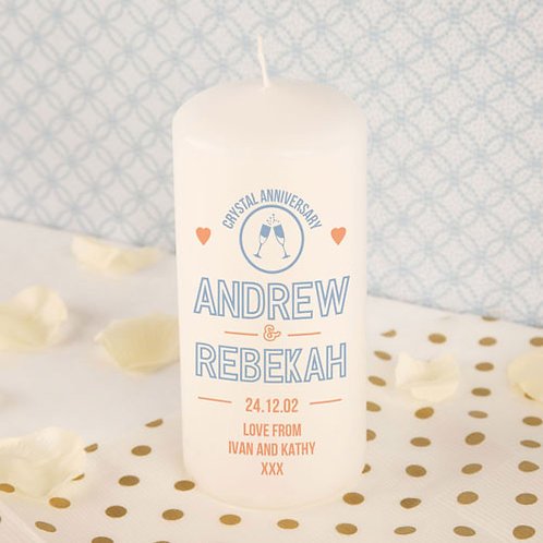 Crystal Anniversary Candle