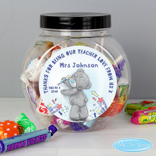 Personalised Me To You Teacher Sweets Jar (PMC)