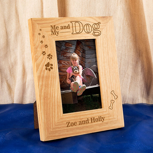 Customised Me and my Dog Oak Frame
