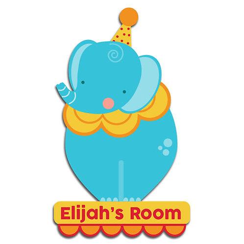 Blue Elephant Door Plaque (PTG)