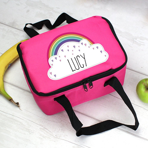 Personalised Rainbow Pink Lunch Bag (PMC)