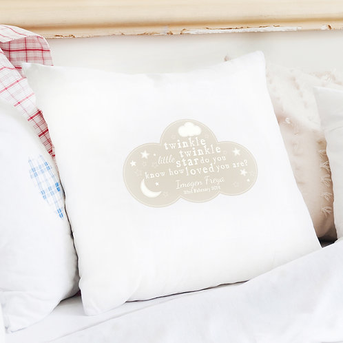 Personalised Twinkle Twinkle Cushion Cover (PMC)