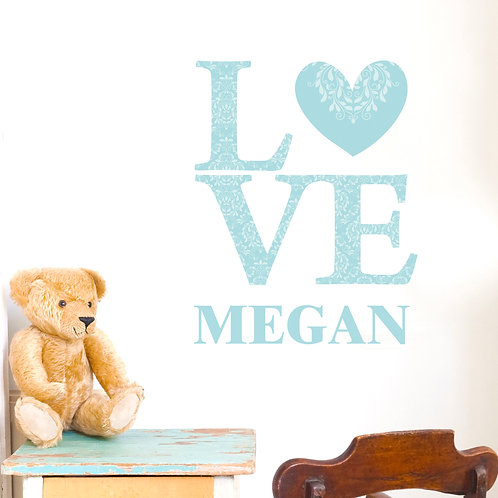Personalised LOVE Eggshell Wall Art (PMC)