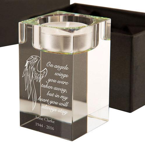Angel Wings Memorial Tealight Holder