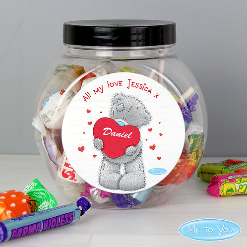 Personalised Me to You Big Heart Sweet Jar (PMC)