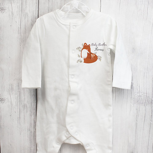 Personalised Mummy and Me Fox 0-3 Months Babygrow (PMC)