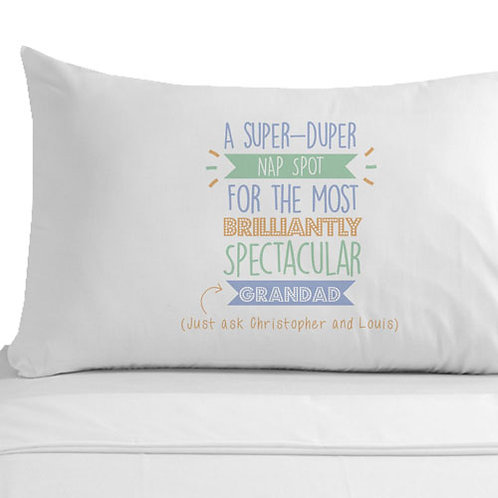 Personalised Super Duper Grandad Pillowcase