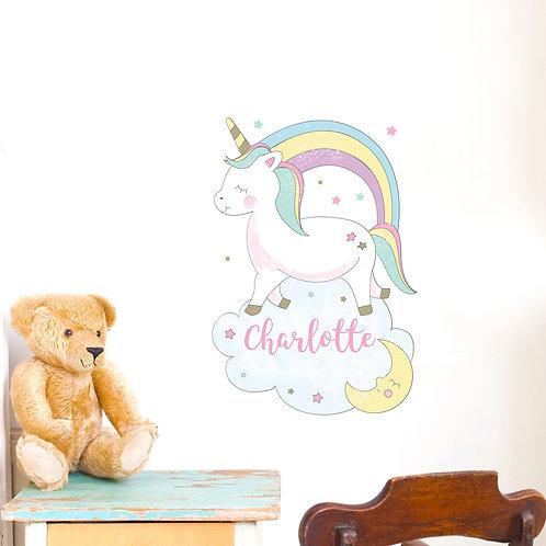 Personalised Baby Unicorn Wall Art (PMC)