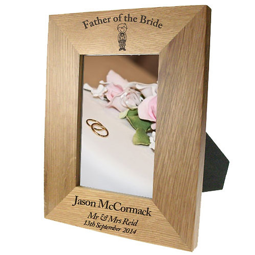 Portrait oak frame: Scottish Father of the Bride