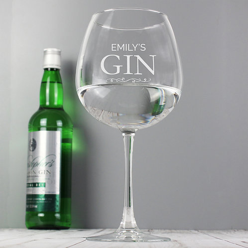 Personalised Gin Balloon Glass (PMC)
