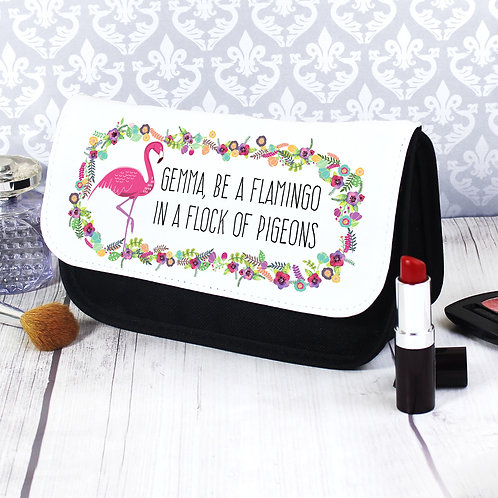 Personalised Flamingo Make Up Bag (PMC)